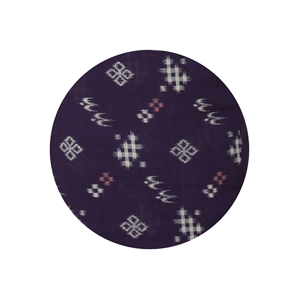 【NEW】 Bタイプ<br/>紗紬二部式着物・花菱絣・紫紺