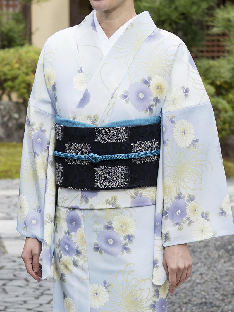 【NEW】京袋帯<br>市松・黒